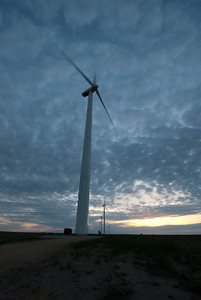 Greensburg, Kansas after being hit by an EF-5 tornado embraced green energy and now gets all of its power from renewable sources like these turbines