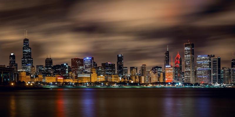 The Chicago skyline, Chicago, Illinois (November 2016)