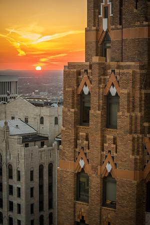 Guardian Building At Sunset