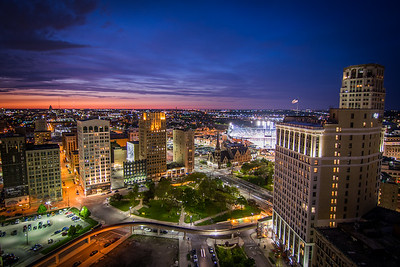 Sunset From Detroit City Apartments