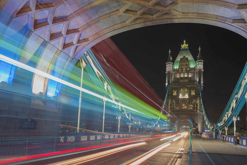 Streaking Across Tower Bridge