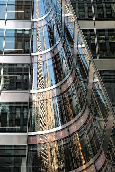 New York City Feb 13 thru Mar 15 2018.  Reflections, architecture, Hudson Yards, Bryant Park