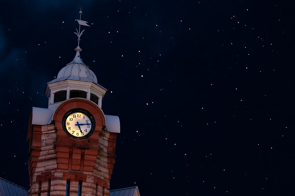 Old Clock Tower on a Starry Night