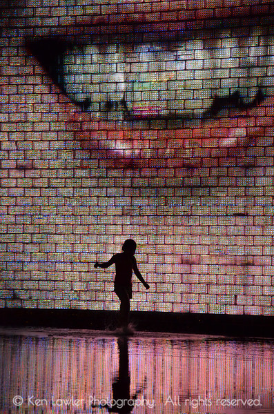 Child in fountain, Millenium Park, Chicago