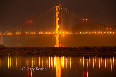 Golden Gate Bridge with Lagoon.