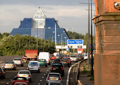 Pyramid and M60 in Stockport