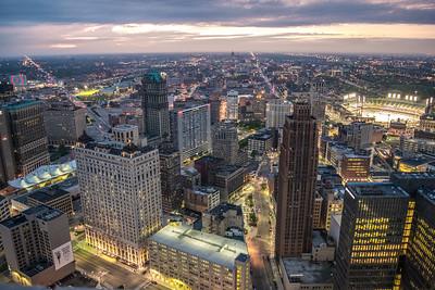 The City Shines At Night
