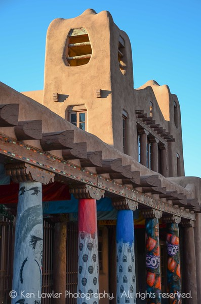 Colorful Adobe Columns