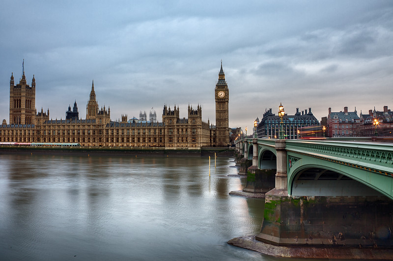 Palace of Westminster and Westminster Bridge (March 2011)