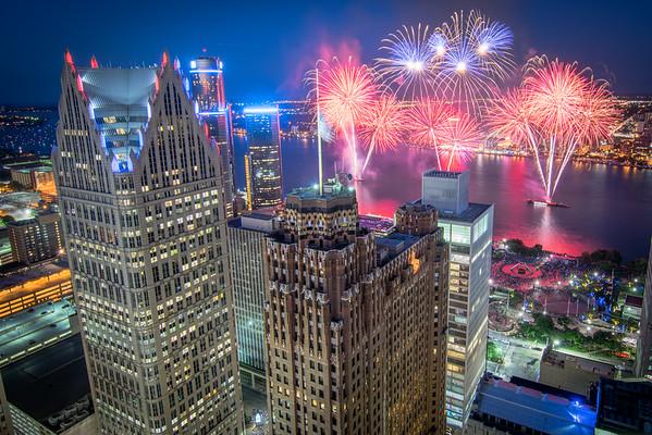 2016 Detroit Fireworks