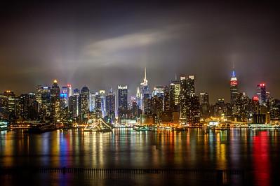 New York City skyline from Weehawken, NJ