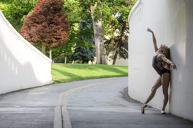 Image of a ballerina on the Boise Greenbelt. Image by Mike Reid, Boise Photographer.