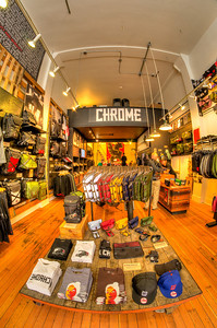 Chrome has a really cool shop in Portland. This is what branding is all about!