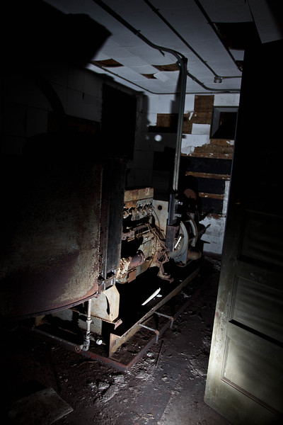 The old Diesel engine of the Bunker..