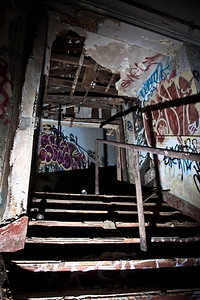 In the dark... where does this inviting staircase lead to ?