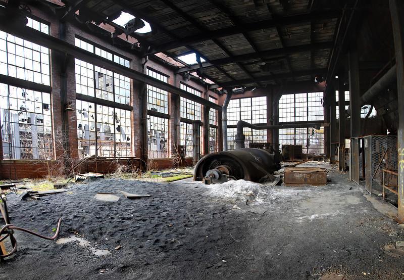 Huber Coal Breaker, Ashley, PA.  08 Jan 2012.