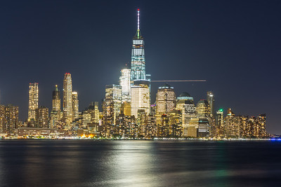 Lower Manhattan Skyline taken at night