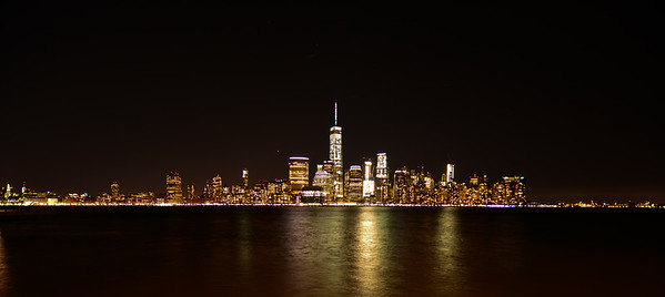 Lower Manhattan Skyline at night