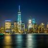 Lower Manhattan Skyline at Night