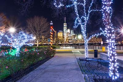 Lower Manhattan through the lights