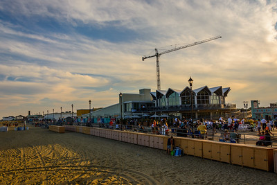 Busy Evening Boardwalk