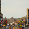 Looking down Ben Franklin Parkway in Center City