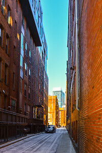 Cold Dead Boston Seaport Alleyway
