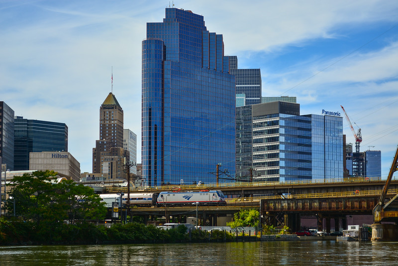 Downtown Newark - Amtrak Regional - Passaic River