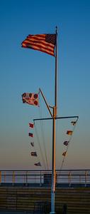 Sunset Boardwalk Flags