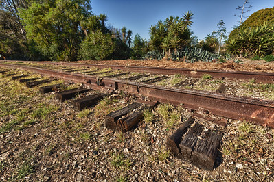 Abandoned tracks near Overland Ave. and the 10 Freeway