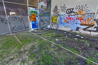 Abandoned tracks and grafitti near Overland Ave. lead to a tunnel under the 10 Freeway. This may someday be the route of a new light rail system.