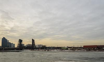 Frozen Urban River
