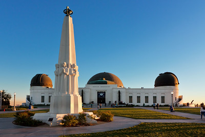 The Griffith Observatory at sunset.
