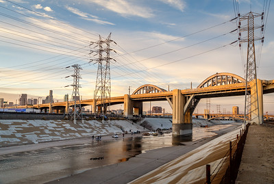 The 6th Street Bridge, an iconic LA landmark featured in films & TV shows. Taken on Jan. 2, 2016, one week before scheduled demolition.