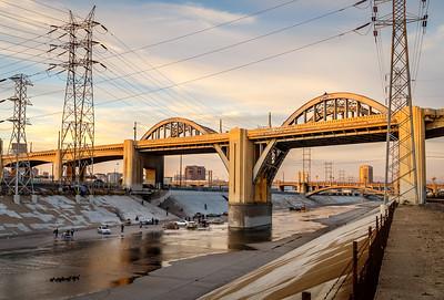 The 6th Street Bridge, an iconic LA landmark featured in films & TV shows. Taken on Jan. 2, 2016, one week before scheduled demolition.