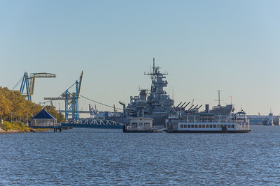 Ships on the Delaware River