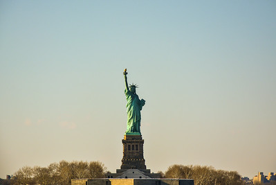 Lady Liberty over looking New York Harbor