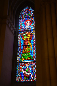Stain Glass window at Cathedral Basilica of the Sacred Heart