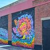 An Artist Flower Mural