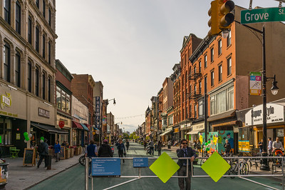 Pedestrian Plazas or Streets