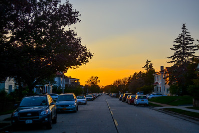 Sunset on West Beech Street