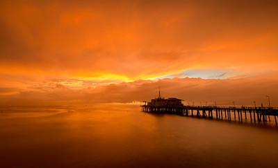 """Rain Dream""  - Santa Monica Pier"