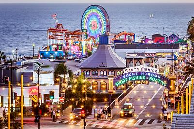 Santa Monica Pier at Ocean Ave.