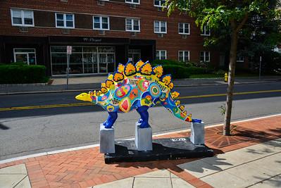 Colorful Dinosaurs around Downtown Stamford