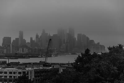 Foggy Manhattan Skyline