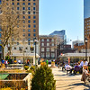 A Busy Military Park in Downtown Newark,New Jersey