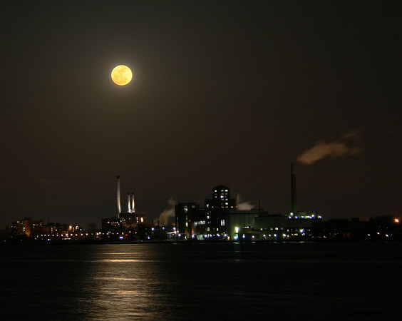 Super Moon over Indusrty