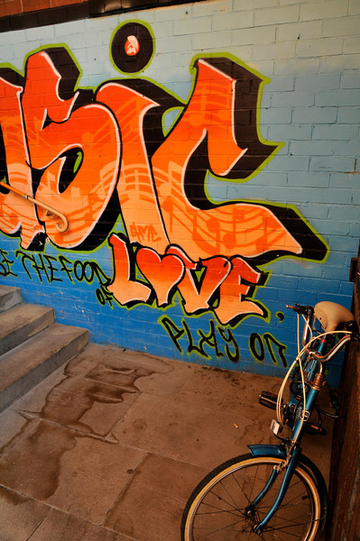 Bike & Graffiti Off High Bridge Street