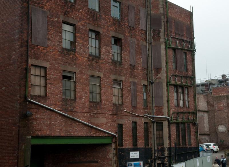 Back of Pilgrim Street building.  Just before being demolished.