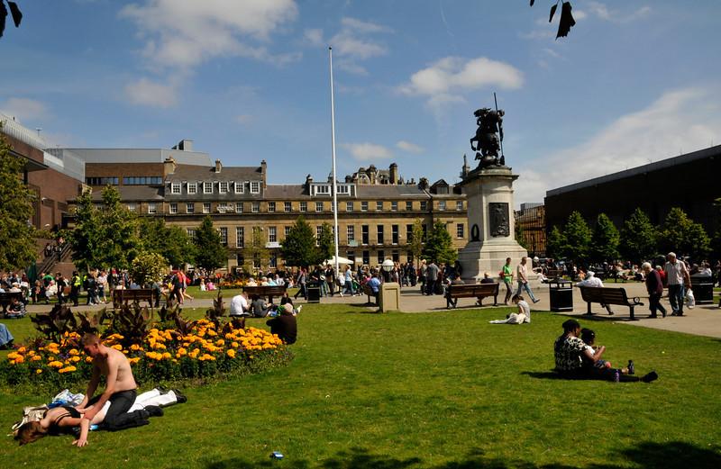 Summer Saturday, Eldon Garden Newcastle
